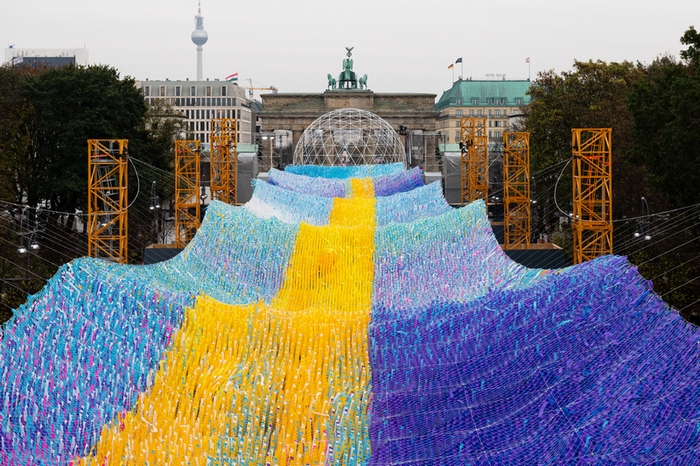 "Kunstinstallation ""Visions in Motion"" am Brandenburger Tor, Photo taken by Thomas Meyer"